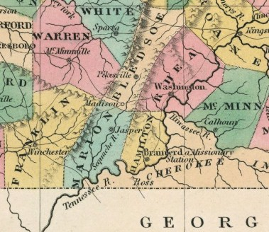 1827 Finley Tennessee Map