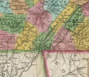1839 S. Augustus Mitchell Map