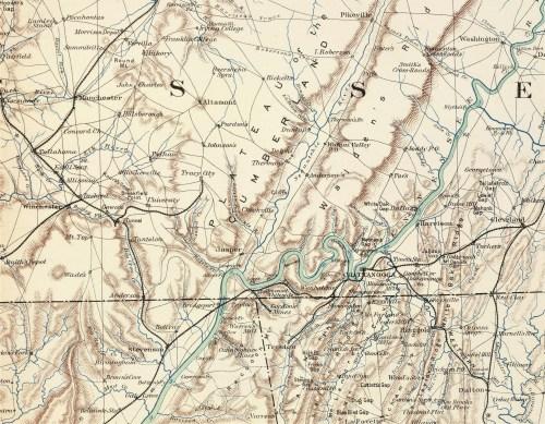 1864 Civil War Map