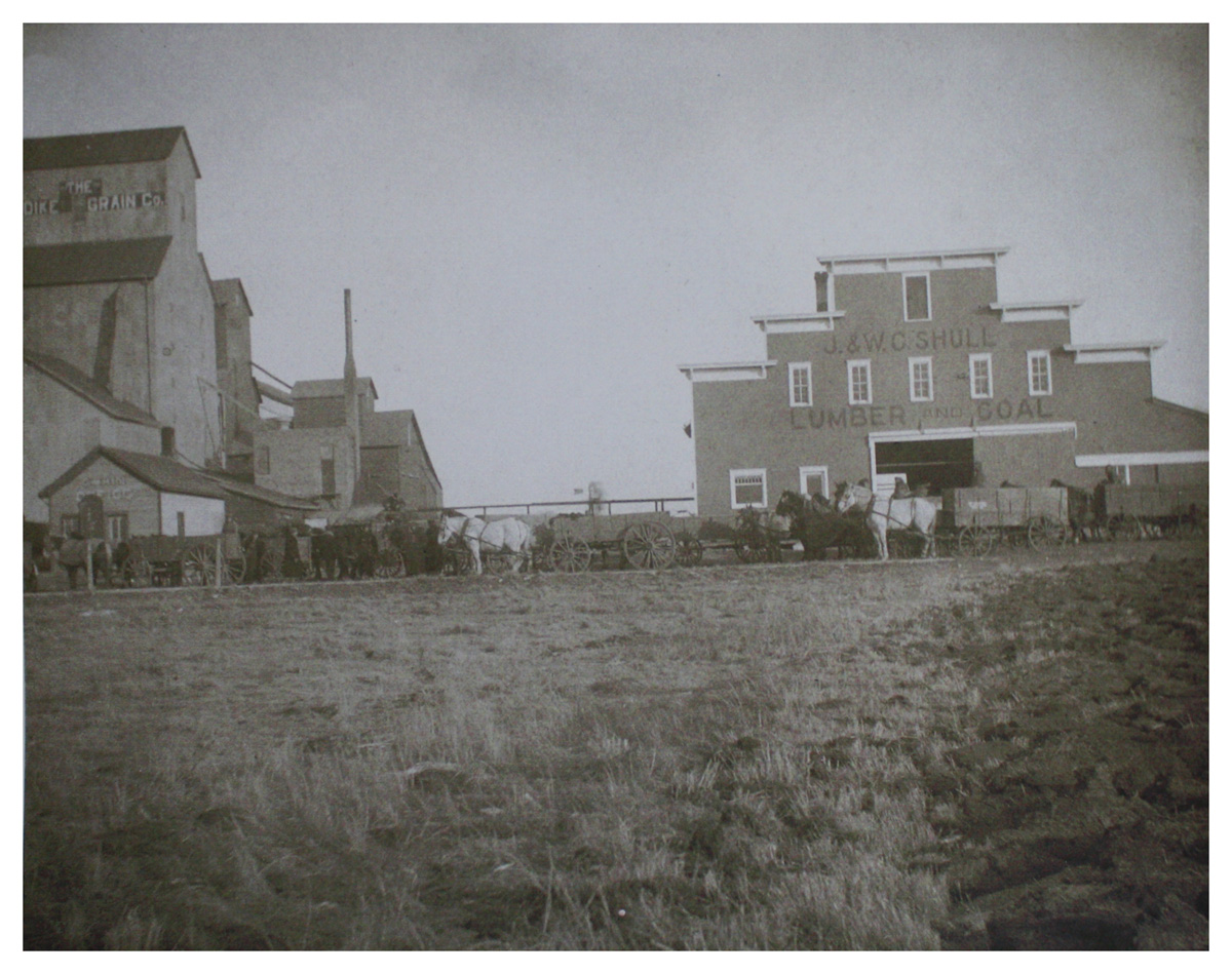 The Updike Grain Company.  Click photo to enlarge.  From the collection of the Rolfe Pro Cooperative.