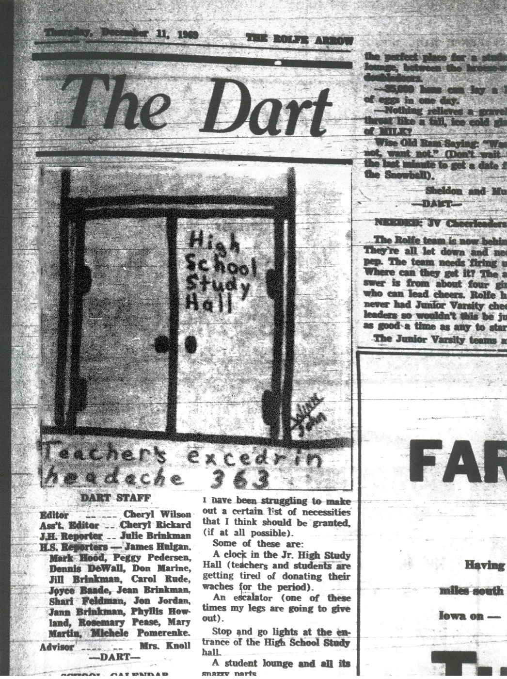 Dart Dec 11 1969 light and dark levels past 1400