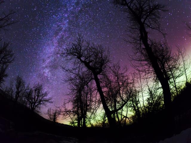 Milky Way, Aurora Borealis