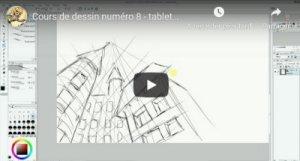 Cours de dessin 8 : la perspective à trois points
