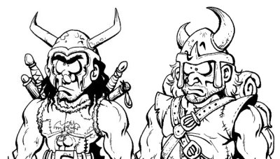 Croquis des nouveaux personnages de Naheulbeuk