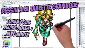 Vidéo : Token Elfe Noble pour jeux de rôles