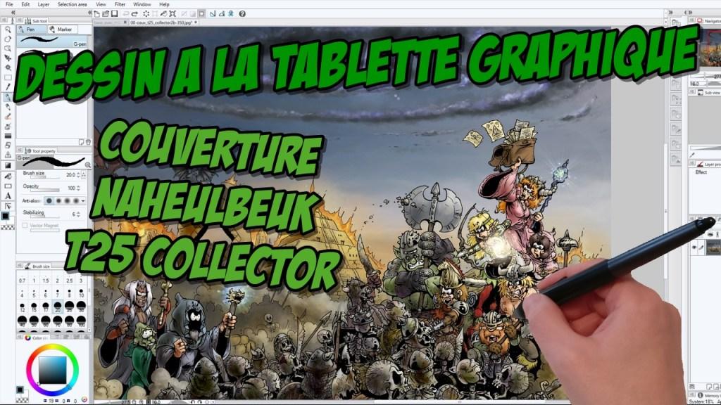 Making-of vidéo : Couverture du tome 25 édition collector de la BD du Donjon de Naheulbeuk