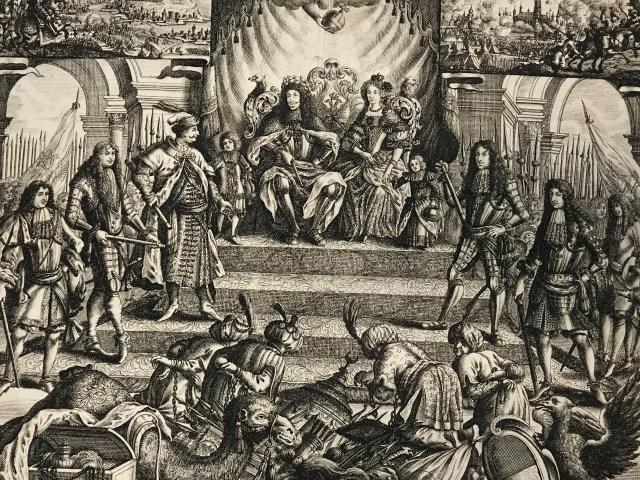 Eleonore Magdalena von Pfalz-Neuburg und Leopold I. als Sieger über die Türken (Wien Museum, 163.635)