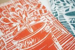 Detail Postkarte Topfpflanze