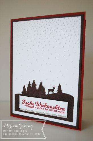 stampinup_schöne feiertage_weihnachtskarte_Leise rieselt