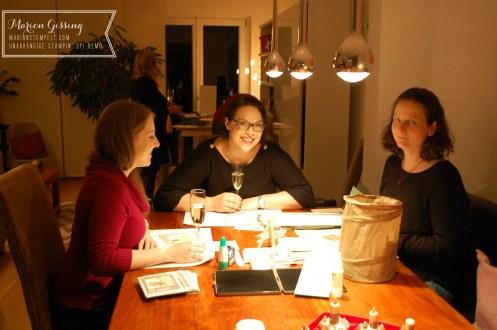 stampinup_team weihnachtsfeier muenchen Basteltisch