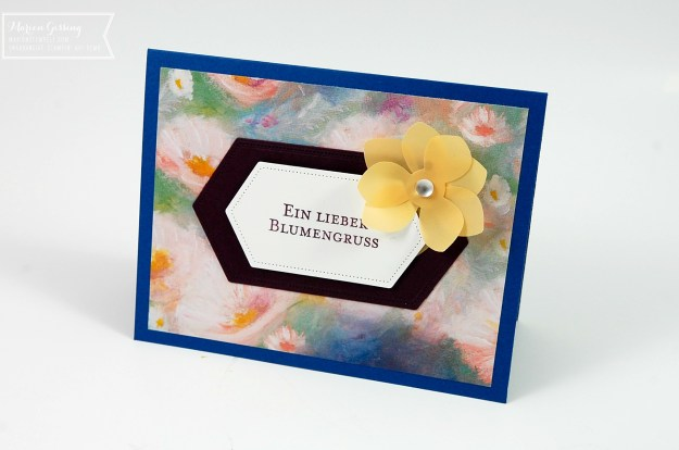 Geburtstagskarte mit Blumen, Stanze Dauerblüher