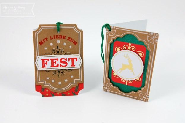 Geschenkanhänger Weihnachten mit Stampin up Produkten