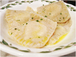 ravioli with butter sauce