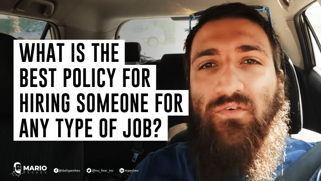 best policy for hiring