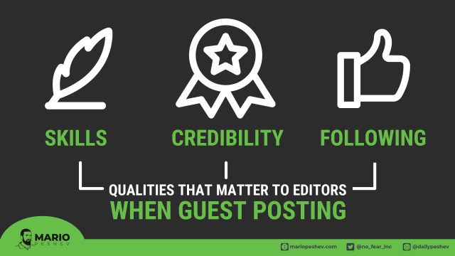 Qualities that matter to editors when guest posting