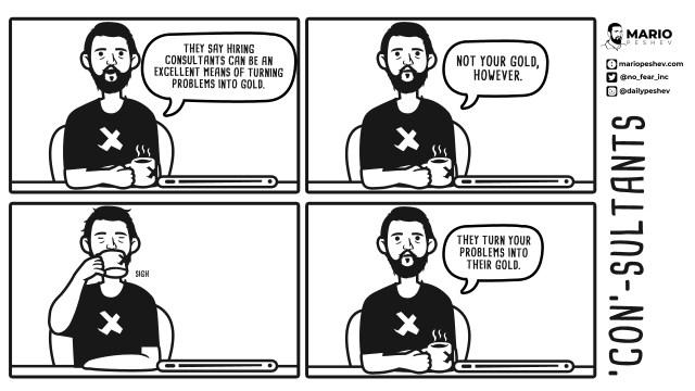Mario Peshev comics on Consultants