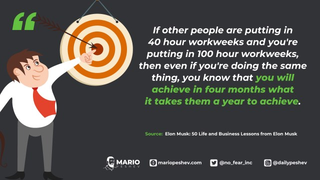 Elon Musk quote on running a business