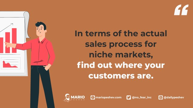 sales process for niche markets