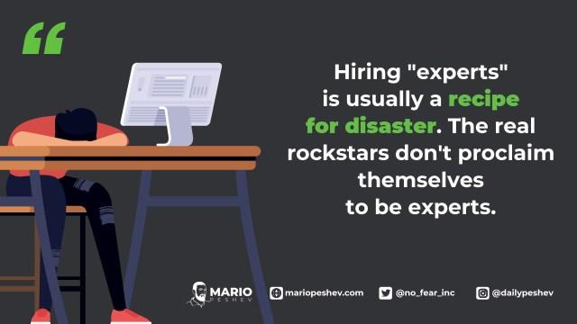 hiring experts