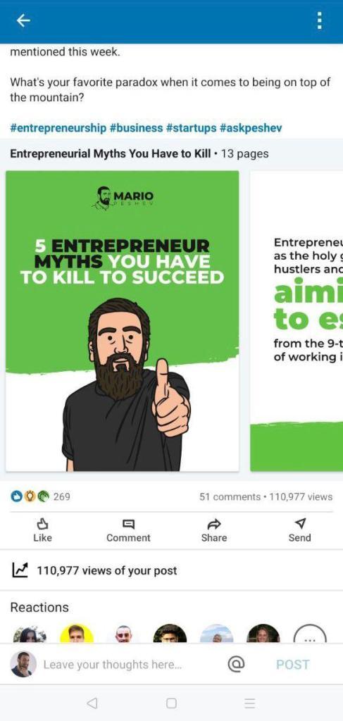 viral LinkedIn slides