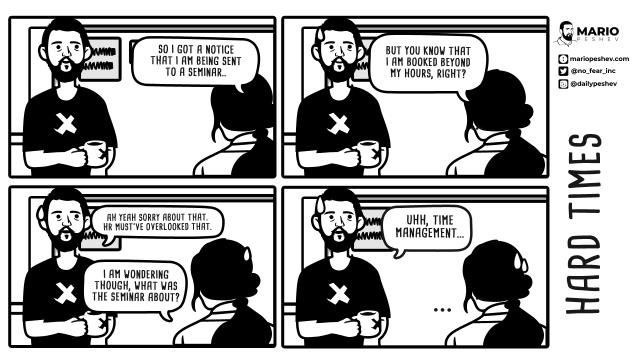 comics about team management