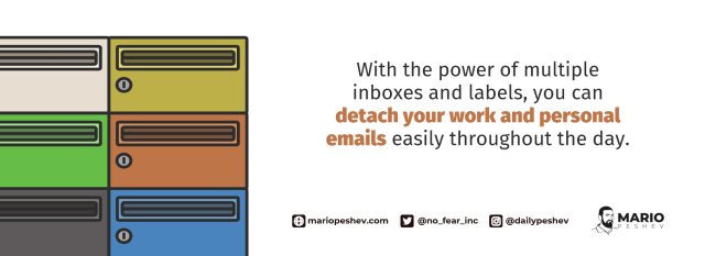 work and personal emails