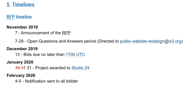 W3C's RFP