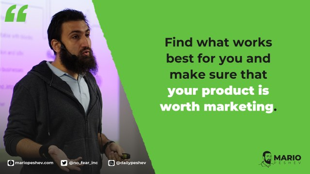 Find what works best for you