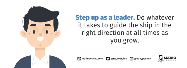 Stepping up as a leader