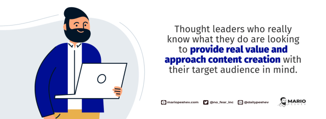 thought leadership content creation