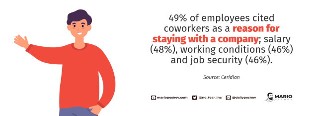 reasons of employees for staying