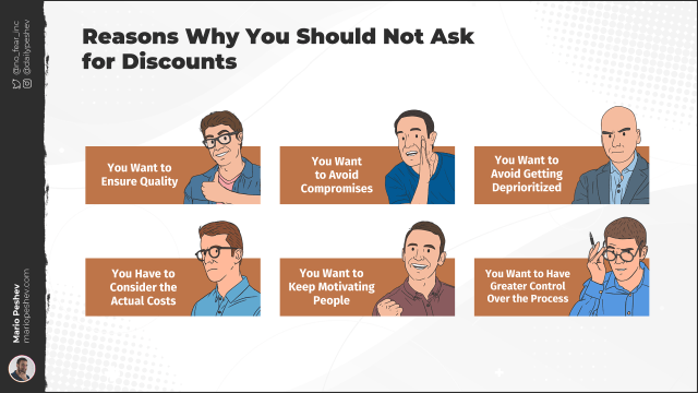 Reasons Why You Should Not Ask for Discounts
