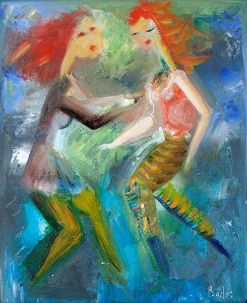 badri painting dancing