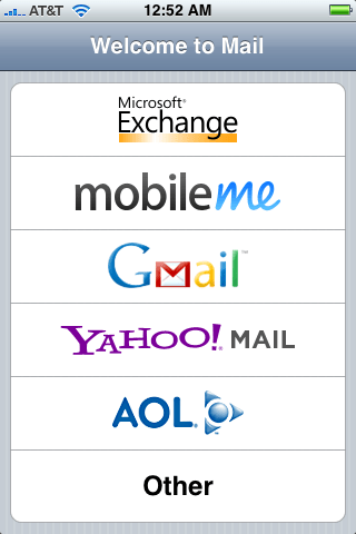 iPhone's Mail Client