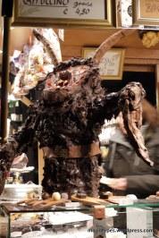An edible Krampus figure at Salzburg Christmas Markets