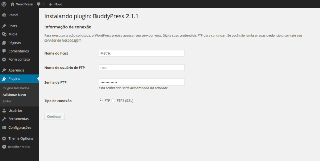 wordpress-solicitando-ftp