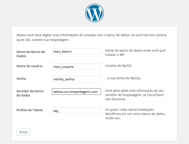 Instalando seu site WordPress