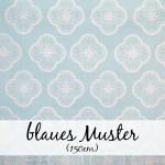 Blaues Muster (150 cm)