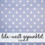 lila weiß gepunktet (150 cm)