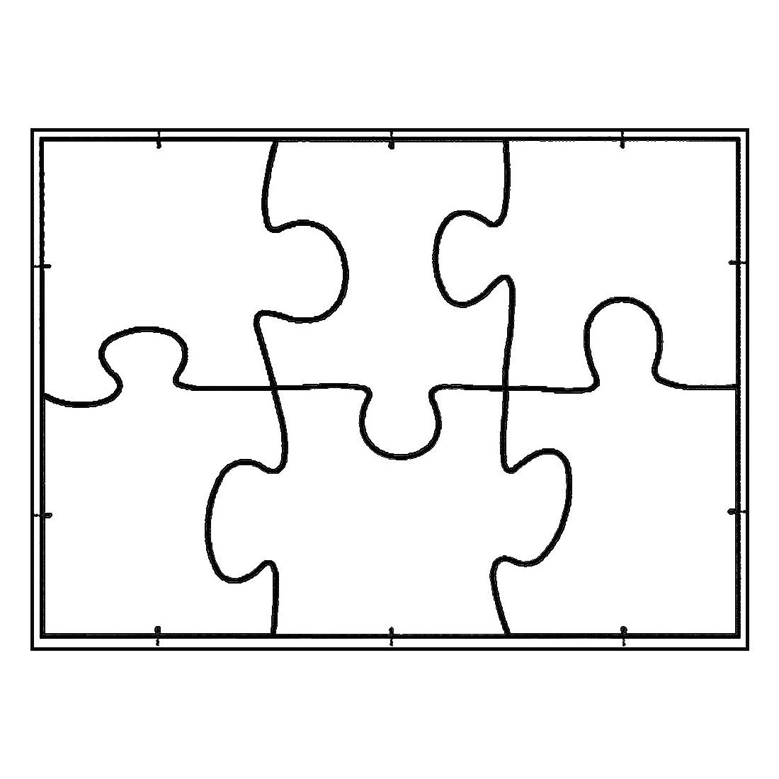 White Line Puzzle Format A5 Zum Selbst Bemalen 6 Stuck Von Joypac Gunstig Bei Mariposa Toys Kaufen