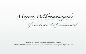 Marisa's business card