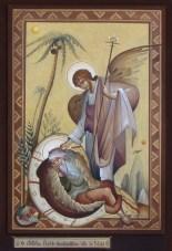 El profeta Elías dormido bajo una planta