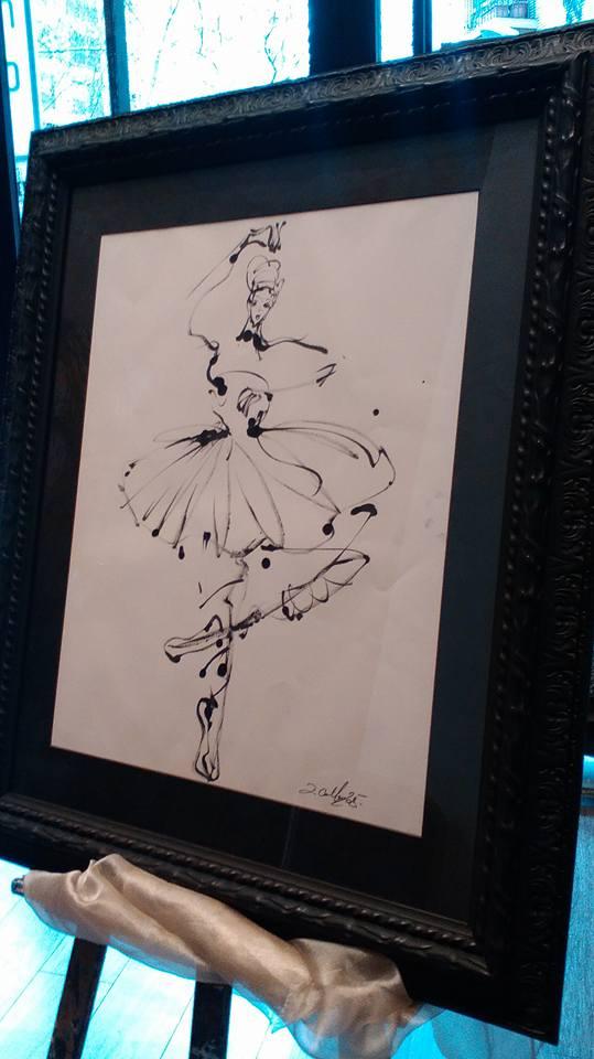 A la J, tradiciones. Dibujo sobre papel. Autor David Callau.