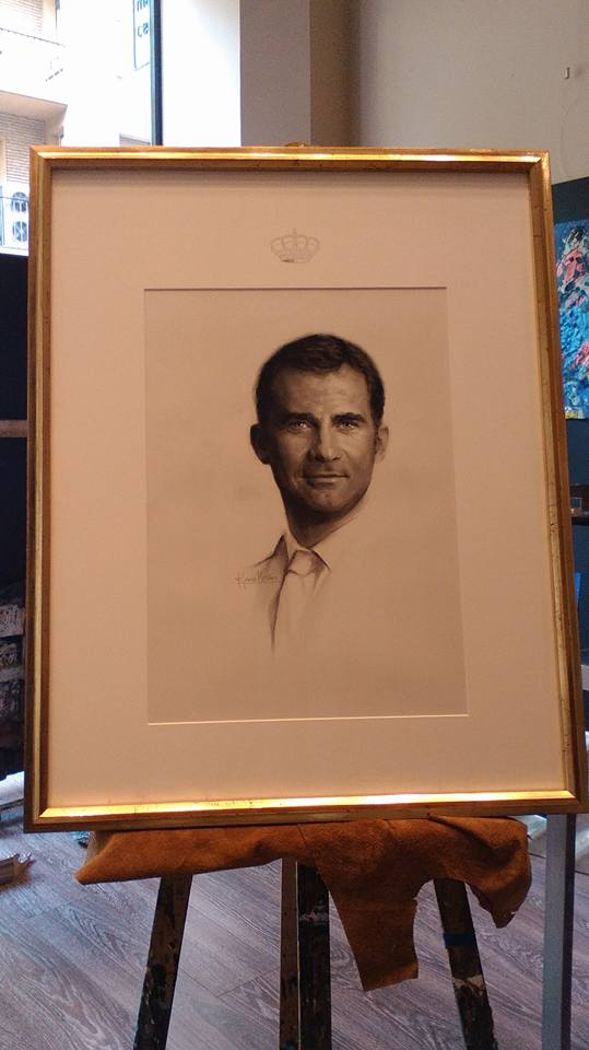 Retrato del Rey Felipe VI de España. Autor Fernando Garcia Monzon #arte #Zaragoza #cuadros #MarisaCervantes #reydeespana #FelipeVI