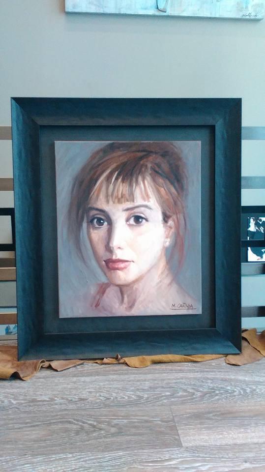 Retrato, técnica óleo. Autora M Cañada