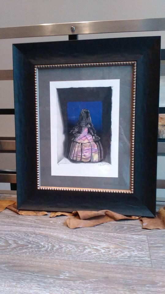 Homenaje a Velázquez. Autor: Martínez Tendero. #arte #cuadro #enmarcaciones #Zaragoza #MarisaCervante #Velázquez