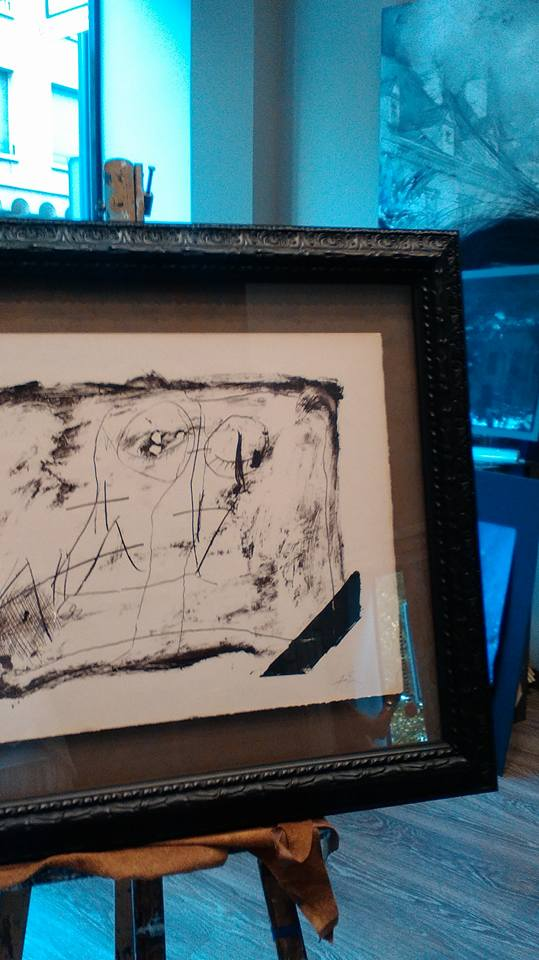 Enmarcación de una obra abstracta #arte #cuadros #Zaragoza #enmarcaciones #MarisaCervantes