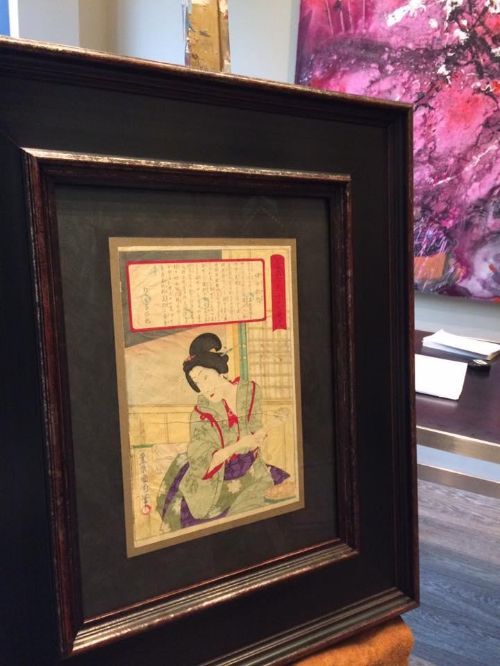 Grabado antiguo Japonés enmarcado | Marisa Cervantes
