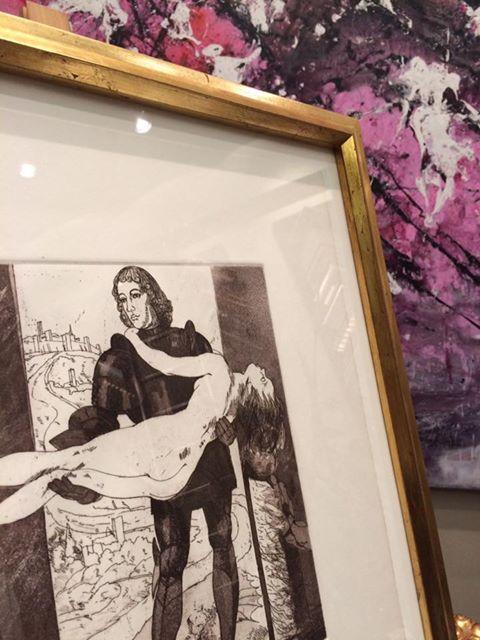 De Damas y Dragones. Autor Natalio Bayo #arte #cuadros #Zaragoza #enmarcaciones #NatalioBayo #MarisaCervantes