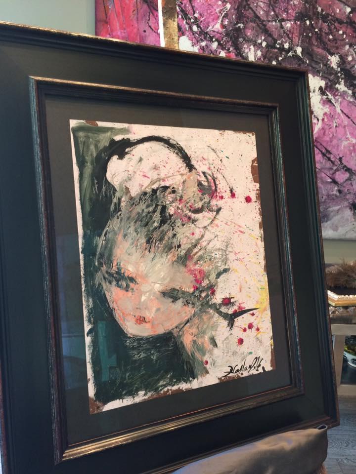 Eterno sueño. Autor: David Callau Gené @CallauArt #arte #cuadros #Zaragoza #MarisaCervantes #enmarcaciones #pintura